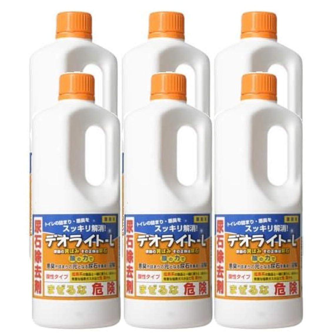 行商人石記念碑的な【セット】 尿石除去剤 業務用 デオライト-L 1kg 6本セット