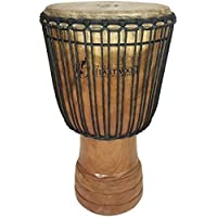 Hand-carved Djembe Drum From Africa - 14x25 Oversize with Big Bass [並行輸入品]