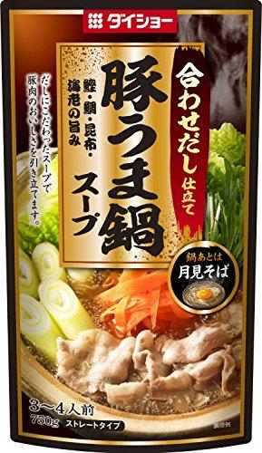 ダイショー 豚うま鍋 スープ 750g×5袋 豚肉 鍋の素