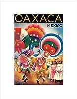 旅行オアハカメキシコ従来ダンサー頭飾り額入りアートプリントb12X 12368 12-Inches x 16-Inches B12X12368_UNFRAMED