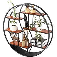 LQQGXLストレージと組織 リビングルームベッドルームキッチンレトロ装飾ラックのための棚ユニットフローティングシェルフ木材