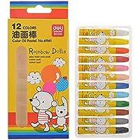 KidsカラーオイルパステルSticks /非毒性図面クレヨン/学生ひな形、12ct