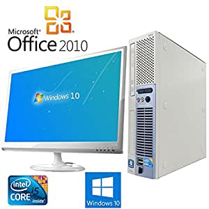 【Microsoft Office2010搭載】【Windows 10搭載】【超大画面22インチ液晶セット】NEC Express 5800 51Lg/新世代Core i5 3.2GHz/メモリ4GB/HDD160GB/DVDスーパーマルチ/中古デスクトップパソコン