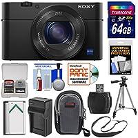Sony Cyber - shot DSC - rx100IV 4K Wi - Fiデジタルカメラ64GBカード+バッテリー&充電器+ケース+三脚+ストラップ+キット