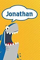 "Jonathan: Personalized Shark Handwriting Practice Paper for Kids notebook 120 pages 6""x9"""