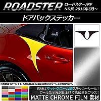 AP ドアバックステッカー マットクローム調 マツダ ロードスター/ロードスターRF ND系 2015年05月~ シアン AP-MTCR2505-CY 入数:1セット(2枚)