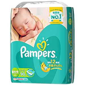 パンパース オムツ テープ さらさらケア 新生児(~5kg) 90枚