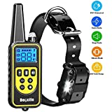YISENCE Dog Training Collar, Dog Shock Collar with Remote 2500FT Shock Collar for Dogs IPX7 Waterproof Rechargeable w/Beep 99 Levels Vibrate Shock Modes Shock Collar for Small Dogs Medium Large Dogs