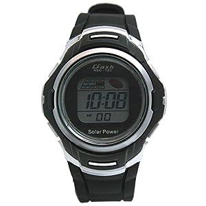 [アリアス]ALIAS 腕時計 ソーラー デジタル DASH 10気圧防水 ウレタンベルト グレー ブラック AD06717SOL9 メンズ
