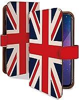 Android One X3 ケース 手帳型 国旗 イギリス かっこいい 世界の国旗 スマホケース アンドロイドワン 手帳 カバー AndroidOneX3 X3ケース X3カバー 旗 ユニオンジャック イギリス国旗 [国旗 イギリス/t0609b]