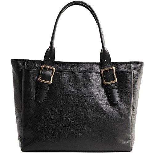 HALEINE[アレンヌ] 本革 ビジネストートバッグ 日本製 ブラック