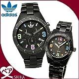 アディダス 時計 (k15) (ペア価格) アディダス adidas ケンブリッジ ブリスベン ADH2519 メンズ ADH2943 レディース 時計 腕時計 ペアウォッチ ブラック マルチカラー [並行輸入品]