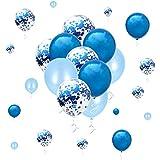 メタリックブルーバルーン 紙吹雪 ブライダル ベビーシャワー バチェロレッテ 誕生日パーティー デコレーション