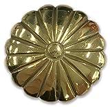 クラフト社 手彫りコンチョ 真鍮菊 17mm 1178-04