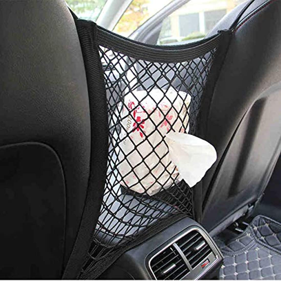 カルシウム混乱したスイング車Tidyの貨物リアトランクシート収納オーガナイザーポケット伸縮性メッシュネット袋