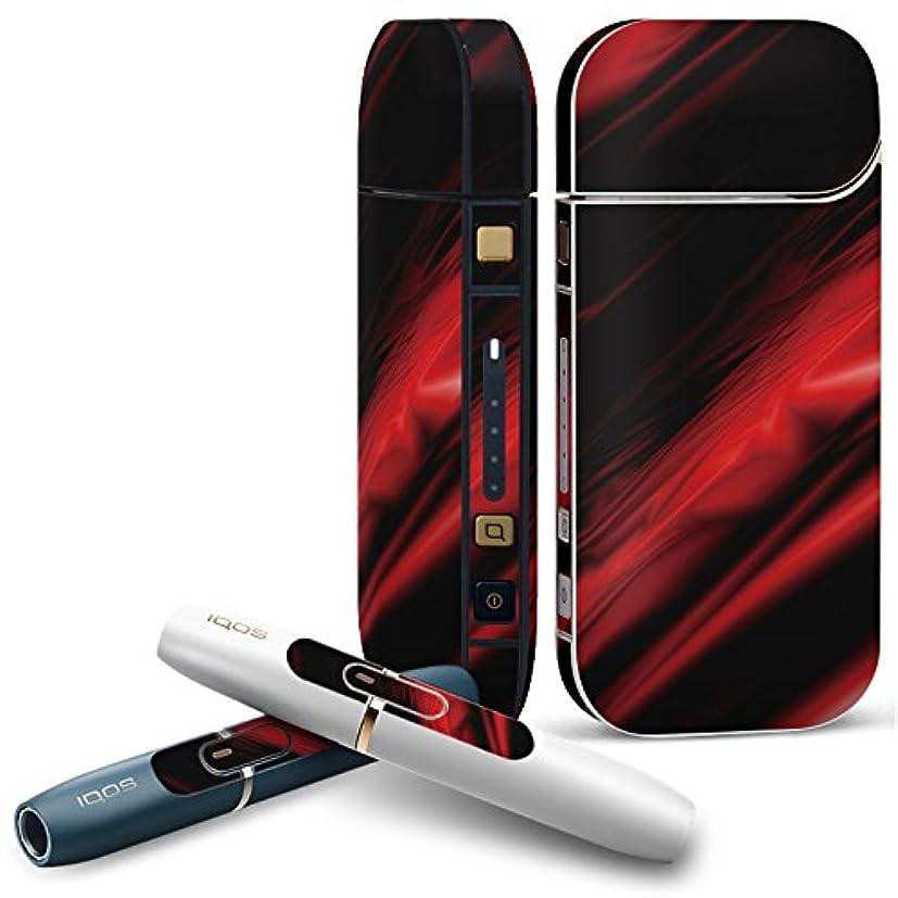 勧める浸漬ダイバーIQOS 2.4 plus 専用スキンシール COMPLETE アイコス 全面セット サイド ボタン デコ ユニーク その他 赤 レッド 黒 ブラック 007214