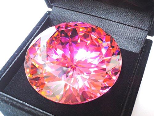 [해외]50mm 라운드 핑크 최고 품질 AAAAA 큐빅 루스 1 개 보석 BOX 기능/50mm round pink top quality AAAAA cubic zirconia loose 1 piece with jewelry box