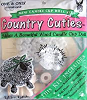 One & Only Craft国Cuties Wood Candle Cup Doll Makingキット' Libby Lamb ' W Hardwoodパーツ、ヘア& More ( 1992)