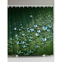 風呂カーテン シャワーカーテン、楽園工場水滴3Dデジタルプリント、太い防水ポリエステル布、衛生吊るすカーテン、マルチサイズ バスカーテン (Size : 100X180CM)