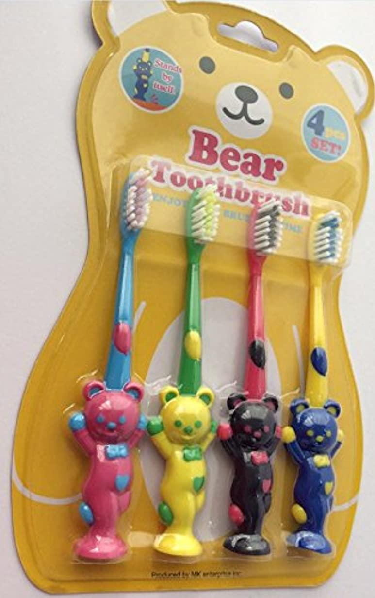 警戒プラス突然アニマル ベア 歯ブラシ 4P セット (クマ)