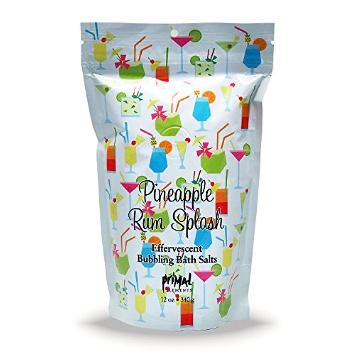 慣性悪意のあるイーウェルプライモールエレメンツ バブリング バスソルト/パイナップル ラム スプラッシュ 340g エプソムソルト含有 アロマの香りがひろがる泡立つ入浴剤