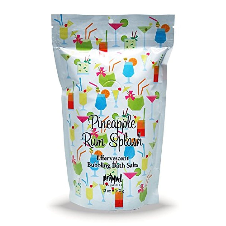 プライモールエレメンツ バブリング バスソルト/パイナップル ラム スプラッシュ 340g エプソムソルト含有 アロマの香りがひろがる泡立つ入浴剤