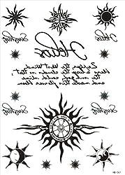 (ファンタジー) TheFantasy タトゥーシール 太陽 トライバル 文字 hb061 【中型・A5】