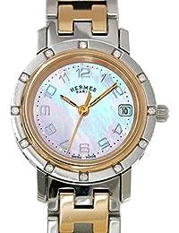 エルメス HERMES クリッパー ナクレ ダイヤ CL4 222 レディース 腕時計 PG ピンクゴールド ピンクシェル 【中古】 90047263 [並行輸入品]
