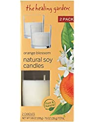 Grocery/Ca ヒーリングガーデンオレンジブロッサムナチュラルソイキャンドル、3.8オンス、2カウント