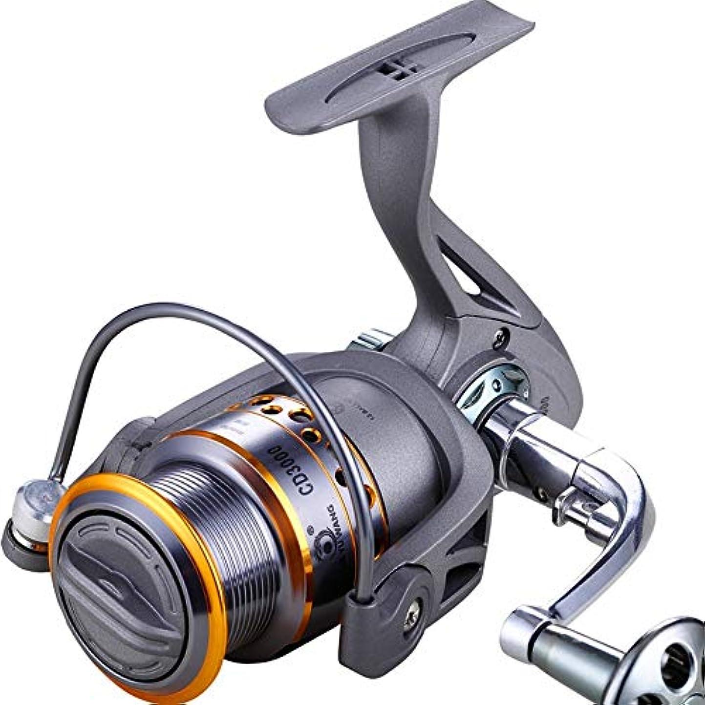 仕えるこしょう相談HOHYLLYA 狩猟用の釣り道、アジアの糸車、金属の釣り用リール、釣り糸、リール、釣り糸、鯛、軽くて滑らかな (Size : CD3000)