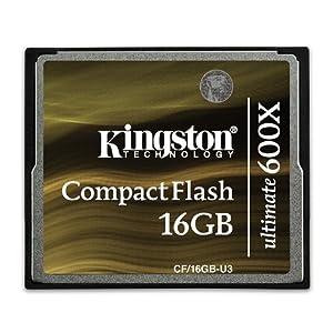 Kingston キングストン CompactFlashカード ultimate 600X 16GB CF16GB-U3