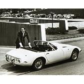 ブロマイド写真★『007は二度死ぬ』ショーン・コネリー/白黒/ジェームズ・ボンドとトヨタ2000GT