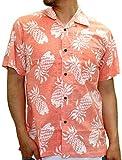 ROUSHATTE(ルーシャット) アロハシャツ コットン 裏使い 総柄プリントシャツ オレンジ S