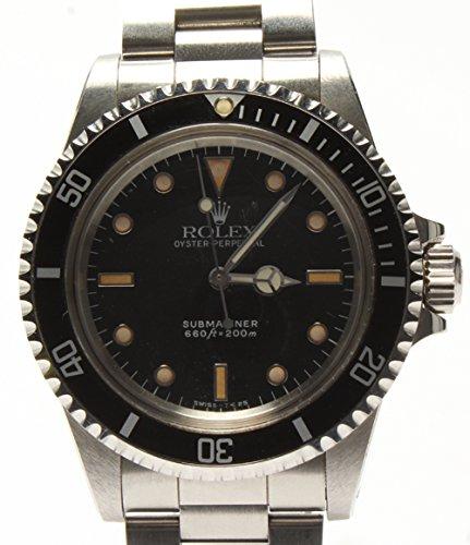 ロレックス サブマリーナ ノンデイト フチあり 5513 自動巻き 腕時計 ブラック ROLEX メンズ【中古】