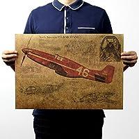 ホームBのためのレトロなヴィンテージの壁のポスターステッカー紙のポスター戦闘機飛行機ポスタ