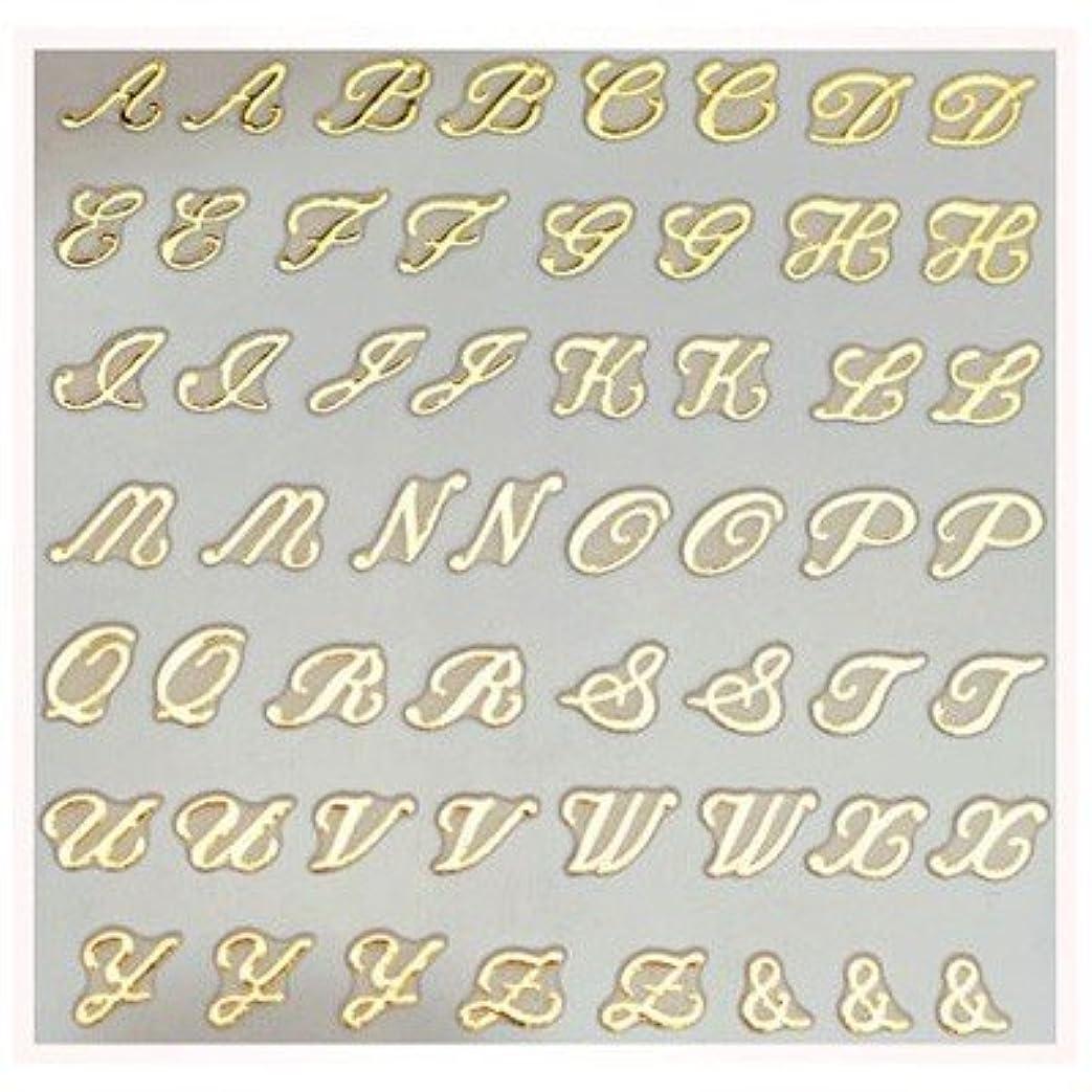 ヘッドレス塊恐怖文字ネイルシール アルファベット イニシャル ピアドラ pieadra×BLC ネイルシール ブローチイニシャル 大 ゴールド