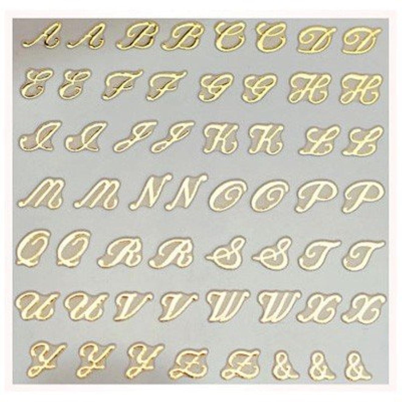権利を与える優先記憶文字ネイルシール アルファベット イニシャル ピアドラ pieadra×BLC ネイルシール ブローチイニシャル 大 ゴールド
