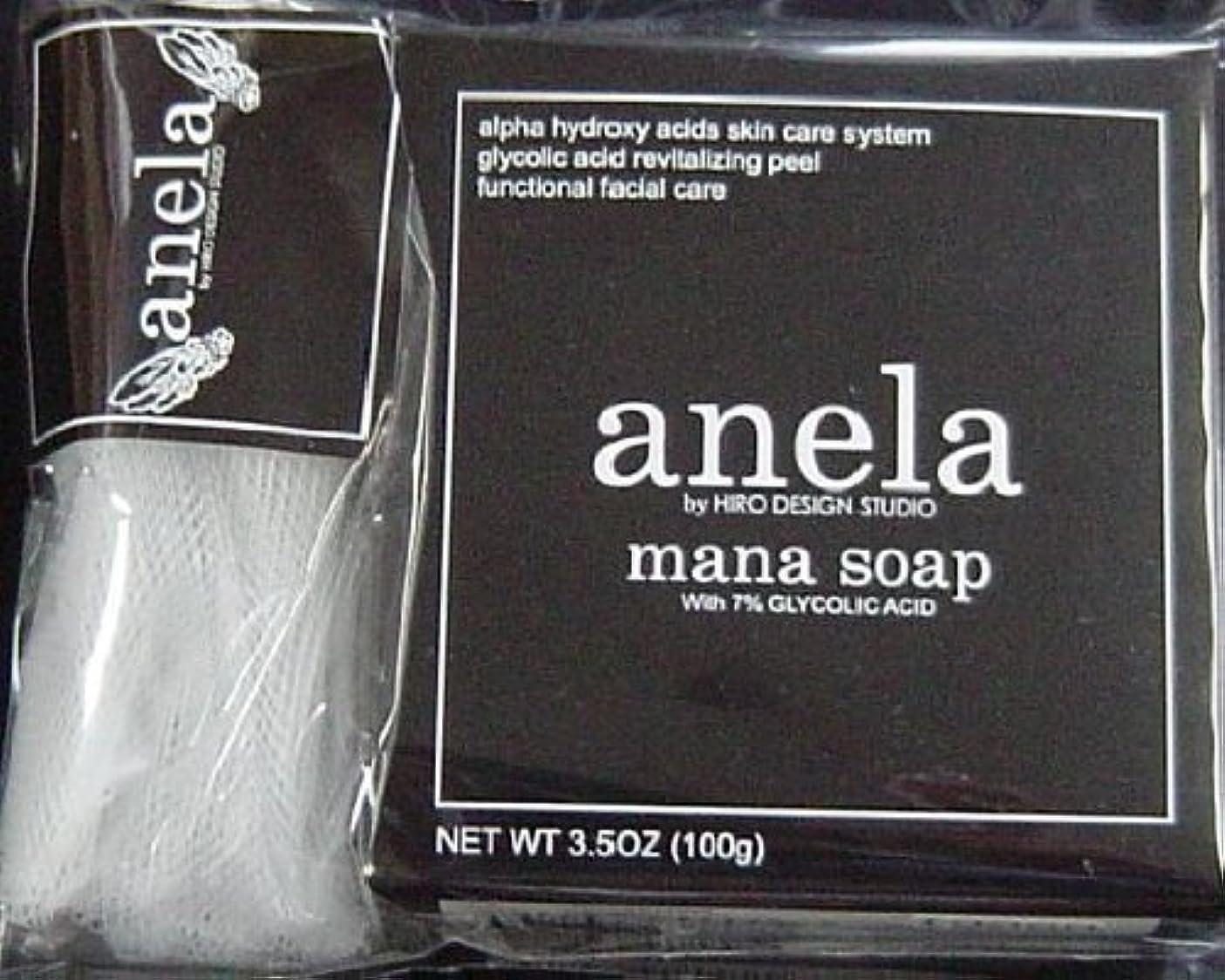 差別化する壮大マイナスanela アネラ マナソープ(泡立てネット付き) 100g ×3個セット