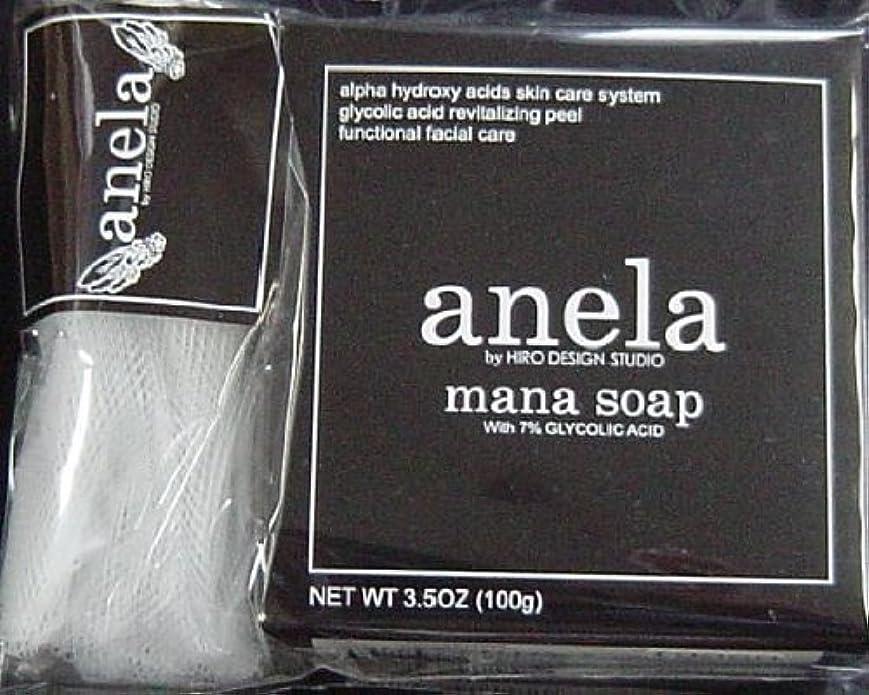 行き当たりばったり証明書日焼けanela アネラ マナソープ(泡立てネット付き) 100g ×3個セット