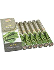 Govinda Incense - White Sage - 120 Incense Sticks, Premium Incense, Masala Coated