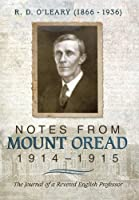R. D. O'leary 1866–1936: Notes from Mount Oread, 1914–1915