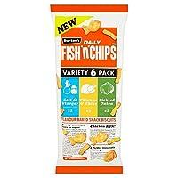 (Fish n Chips (魚のNチップス)) 魚「N」のパック当たりのチップ品種6 (x2) - Fish 'N' Chips Variety 6 per pack (Pack of 2) [並行輸入品]