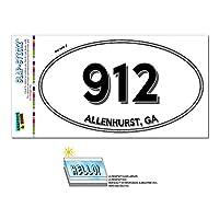 912 - Allenhurst, GA - ジョージア - 楕円形市外局番ステッカー