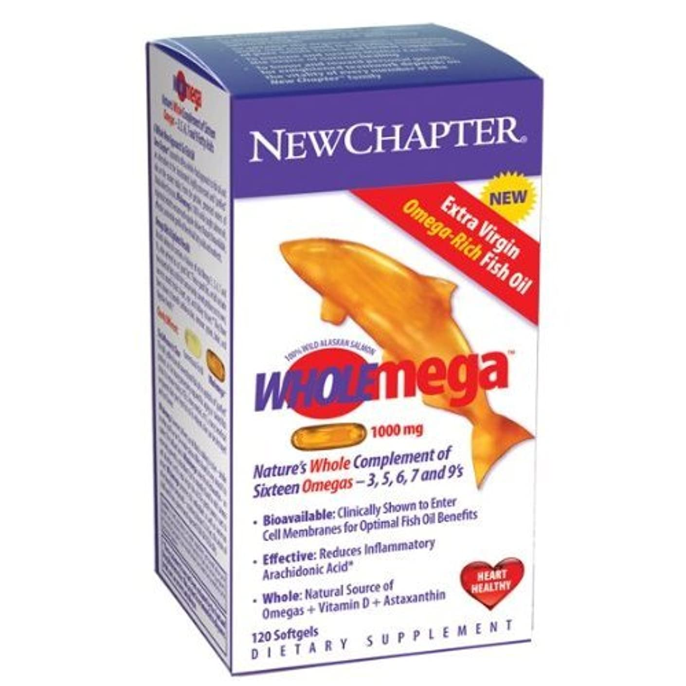 季節警察殉教者New Chapter - Wholemega 1,000 mg 120 softgels by New Chapter