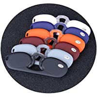 Comfortable Frameless Legless Reading Glasses Clip Nose Glasses Card Type Portable Middle-Aged and Elderly Glasses Beautiful (Color : Black, Size : +1.5)