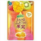 明治 果汁グミとろけるふたつの果実キウイ&マンゴージュレ 52g×10袋