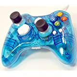 FiveStar USB Wired Game Pad Controller With Thumbstick Grips for Use With Xbox 360, Windows 7 (X86) Windows 8 (X86) 9 Colors (1X, Transparent Blue) [並行輸入品]