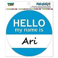 アリこんにちは、私の名前は - サークル MAG-格好いい'S(TM)カー/冷蔵庫マグネット