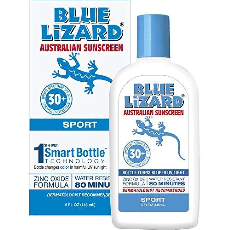 曲がった手知事Blue Lizard Australian Sunscreen - 防水スポーツ日焼け止めSPF 30+広域スペクトルUVA/UVB保護 - 5オンスのボトル、2パック