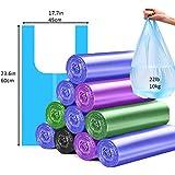 Trash Bags 4 Gallon Handle-Tie Small Trash Bag 100 pcs (Random Color)